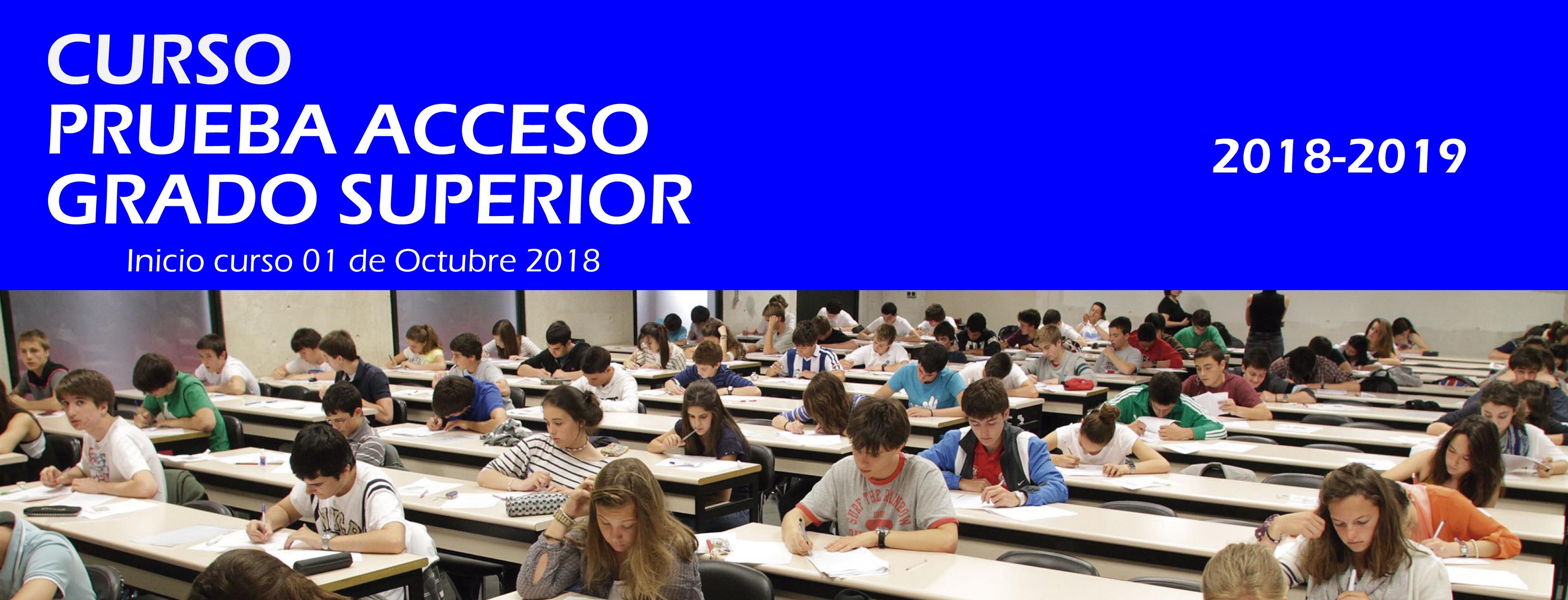 Prueba Acceso Grado Superior Valencia